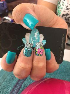 Nails art,acrylic Nails, animal print Nails