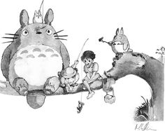 Awesome drawing from My Neighbor Totoro