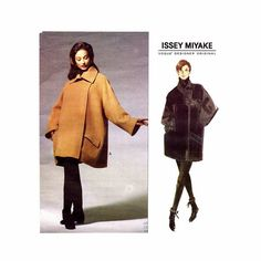 1990s ISSEY MiYAKE Vogue 1227 Oversized COAT Pattern Jacket Pattern Japanese Avant Garde UNCuT Vintage Womens Sewing Patterns Size 8 - 18