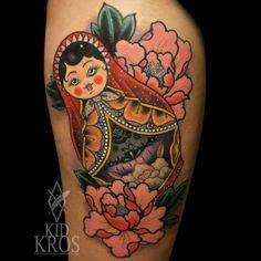 Amazing matroska tattoo by Kid Kros Casa Occulta, Split- Croatia… http://instagram.com/kidkros www.facebook.com/casaocculta @Amanda Pope