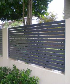 Garden Fencing – Home to Z - Zaun House Fence Design, Modern Fence Design, Gate Design, Aluminum Fence, Aluminium Fencing, Tor Design, Front Fence, Garden Fencing, House Front