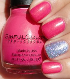 Sinful Colors Cream Pink + Painted Polish Drunk on Holo
