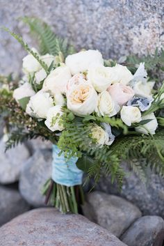 Arrangements Floral + Party Design — Rancho Mirage, Lauren + Chris |  Bridal Bouquet white, cream with greens. Garden Roses, ranunculus, dusty miller. Palm Springs Air Museum, Pineapple Vase, Bride And Prejudice, Parker Palm Springs, Lace Runner, Bistro Lights, Sands Hotel, Spring Air, Rancho Mirage