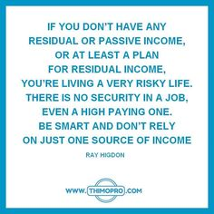 how to build residual income for life
