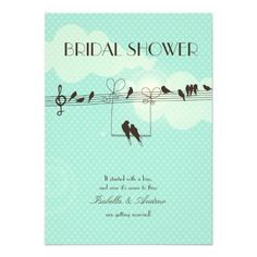 love music bridal shower invitation