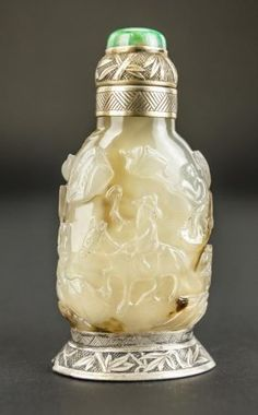 Antique Carved Chinese Snuff Bottle