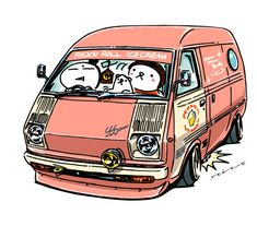 """crazy car art"" jdm japanese old school ""LITEACE"" original characters ""mame mame rock"" / © ozizo Official web shop ""STAY CRAZY (in Society6)"" Official web shop ""ozizo(in Redbubble)"" ""Crazy Car Art"" Line stickers ""Crazy car Art"" Telegram stickers"