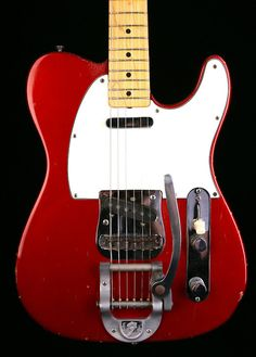 1968 Fender Candy Apple Red Telecaster w/ Bigsby Tremolo and Cap and board.