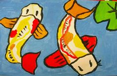 Koi Fish Art Lesson - Every art lesson I have used from this site has been…