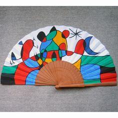 Abanico basado en una obra de J. Miró. 27x50 cm. Paul Klee, Gustav Klimt, Claude Monet, Paper Fans, Medieval, Hand Fans, Artworks, Paintings, Pipes