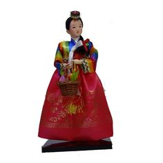 Vintage Koreans Humanoid Geisha Girl Art Doll Hanbok Kids bedroom decor artwork
