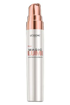 """""""This is a great product to use under the eyes, on the bridge of the nose, and along the tops of the cheekbones to add a really soft, pretty light to the face without screaming highlighter,"""" Stiles says. """"I use a little here and there to add brightness to the face."""" #refinery29 http://www.refinery29.com/hollywood-favorite-drugstore-beauty-products#slide-7"""