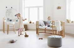 Make it a room she'll never forget. Stokke Sleepi Mini Crib grows with baby from newborn to toddler to junior bed too, becoming a familiar nest-like space to rest her head