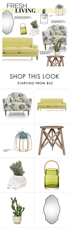 """""""Fresh Living"""" by chakragoddess ❤ liked on Polyvore featuring interior, interiors, interior design, home, home decor, interior decorating, Crate and Barrel, Incipit, Flamant and Ceramiche Pugi"""