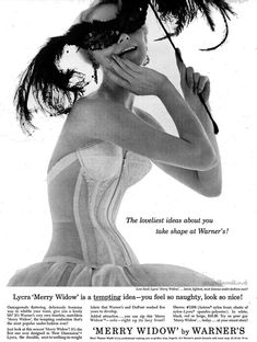 "Warner s ""Merry Widow"" Lingerie Vintage Advertisements dbe7c910193"
