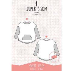 Patron enfant Sweat Jules 18 mois/6 ans Super Bison