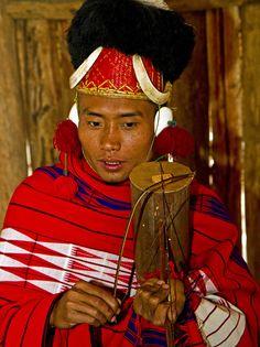 Naga Musician  Hornbill festival - Nagaland, India
