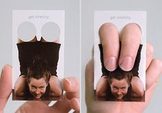Yoga Trainer Business Cards .  I like this creativity, getting people to take part in your business cards,