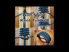 Wolf Spirit - Paracord Knot Tutorial - YouTube