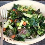 Kale Salad with Avocado and Apple