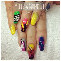 Nail art. Studio 2075, Montreal City. Designed by Melissa Monderie. Jem and the Holograms :)