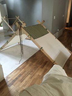 Barraca feita com madeira de reflorestamento para uma festa do pijama somente armações $ 87,00