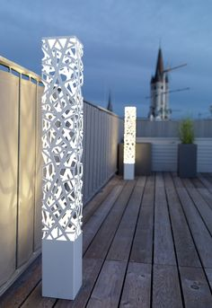 plasma cut, hermosas y decorativas luces de exterior.