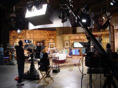 Filming Check, Please! South Florida in Studio B.