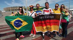 Torcida faz festa antes da semifinal da Copa em BH Seleção brasileira faz o jogo da semifinal contra a Alemanha no Mineirão nesta terça-feira (8).