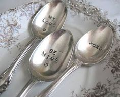 How sweet.....❤......Love these spoons!
