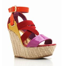 Strappy Wedge Colorblock Sandals $25