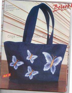quilli bolsos en tela n° 02 - Rosane Al - Álbuns da web do Picasa Jean Purses, Denim Bag, Ted Baker, Upcycle, Pouch, Reusable Tote Bags, Accessories, Albums, Gallery