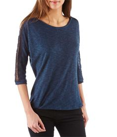CAMAIEU – T-shirt femme dentelle épaules
