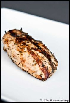 Clean Eating BBQ Terragon Chicken from The Gracious Pantry blog