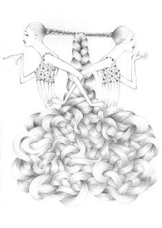 Original Astrology handmade illustration by Haus by HAUSOFJOEYnl, €795.00