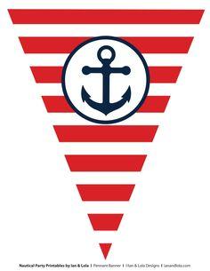 Bandera náutica roja.