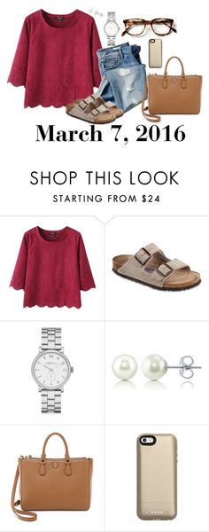 """""""March 7, 2016"""" by jennie-le on Polyvore featuring Gap, Birkenstock, Marc by Marc Jacobs, BERRICLE, Tory Burch, Mophie, women's clothing, women, female and woman"""