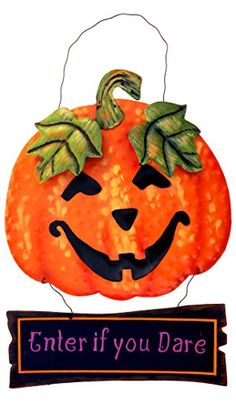cat signs home decor - Metal Halloween Hanging Welcome Sign Wall Decoration (Pumpkin) * Want additional info? Click on the image. (This is an affiliate link) #CatSigns