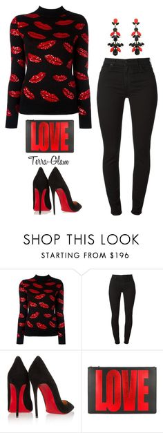 """More Love"" by terra-glam ❤ liked on Polyvore featuring Yves Saint Laurent, Christian Louboutin, Givenchy and Frango"