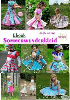 Nähanleitungen Kind - Sommerwunderkleid Ebook Größe 80-146 Multivariante - ein Designerstück von Fadenterror bei DaWanda