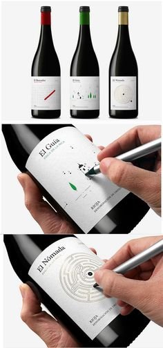 Some Of The Best Interactive Package Designs Ever Packaging That Turns Into A Hanger Meat Packaging With A Freshness Indicator Packaging Folds Into A Fake Plate Origami Bottle Label Squishable Wine. Bottle Packaging, Food Packaging, Brand Packaging, Design Packaging, Packaging Ideas, Coffee Packaging, Innovative Packaging, Wine Bottle Design, Wine Label Design