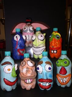 Middle school, Ugly Jugs paper mache project - fall 2013