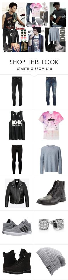 """""""Austin, Ethan and Greyson {intros}"""" by just-my-anons ❤ liked on Polyvore featuring ADAM, Alexander McQueen, Nudie Jeans Co., H&M, Univibe, Topman, Kazuyuki Kumagai, Yves Saint Laurent, Robert Wayne and adidas"""
