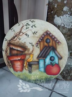 31 Coolest Decor Painting And Decorating Tole Decorative Paintings, Tole Painting, Ceramic Painting, Fabric Painting, Diy Painting, Painting On Wood, Country Crafts, Country Art, Decoupage