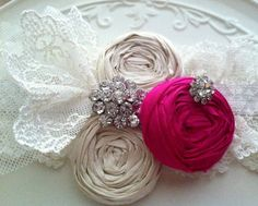 Neon Pink Garter Lace #Garter #Neon #Pink Fuschia Wedding Garter SET