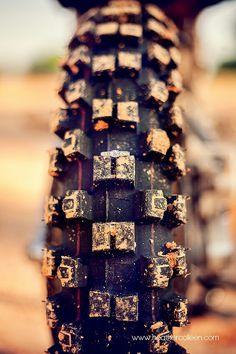Dirt bike engagement photo