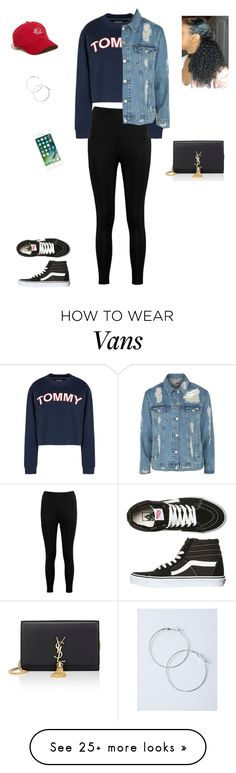 """Untitled #368"" by kristian321 on Polyvore featuring Boohoo, Tommy Hilfiger, Topshop, Hollister Co., Yves Saint Laurent and Vans"
