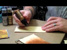 Tim Holtz Metallic Distress Paint - YouTube...can Tim Holtz just come live in my craft room??
