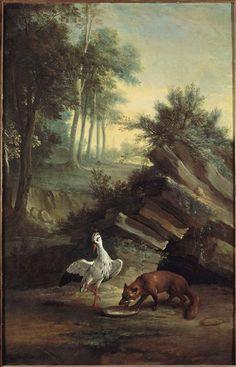 Jean Baptiste Oudry | Le Renard et la Cigogne, Fable de La Fontaine | Images…
