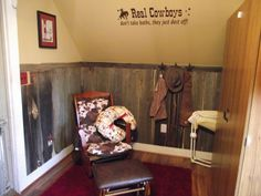 Love the walls of this Cowboy nursery